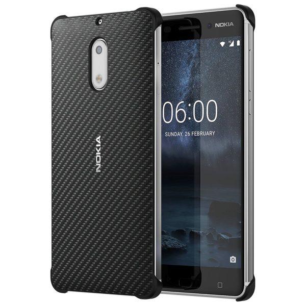 purchase cheap d9856 cddda Buy Nokia Carbon Fiber Design Case Black For Nokia 6 – 1A21M9800VA ...