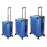Highflyer T1000 Trolley Luggage Bag Blue 3pc Set TH1000PPC3PC