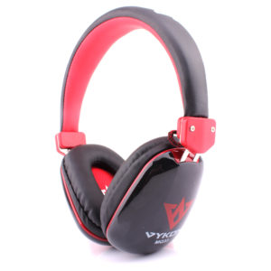 Ovleng Vykon Wired Stereo Headphones With Mic Black/Red - MQ33