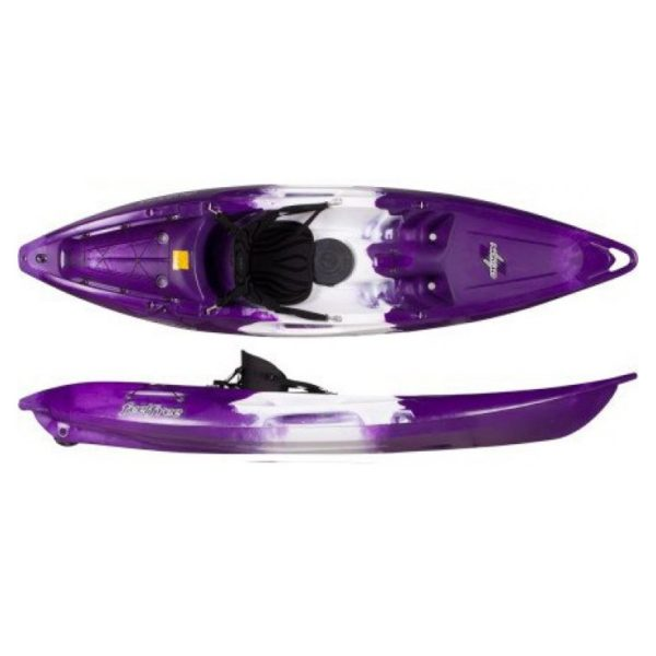 Feelfree Nomad Single Person Sit On Kayak With Wheel Purple White Purple Nomsswwpwp