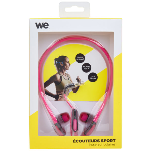 We Sport Wired Earphone Pink