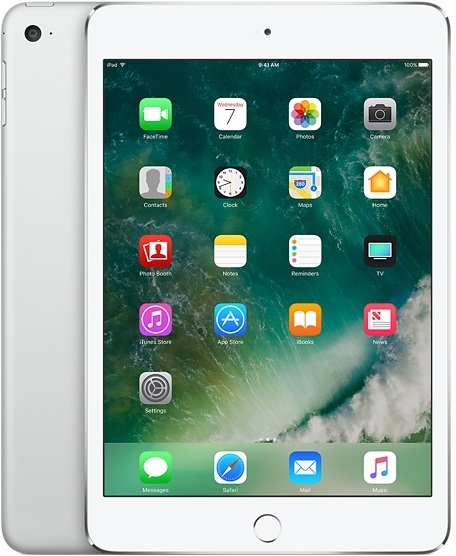 Apple iPad Mini 4 Tablet - iOS WiFi 128GB 2GB 7.9inch Silver with FaceTime