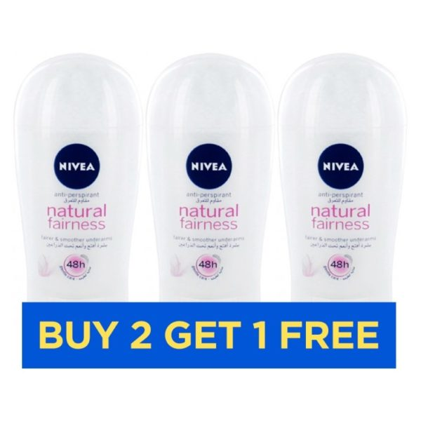 Nivea Natural Fairness Women Stick 40ml - Buy 2 Get 1 Free