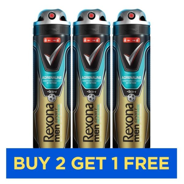 Rexona Men Sport Adrenaline 150ml - Buy 2 Get 1 Free
