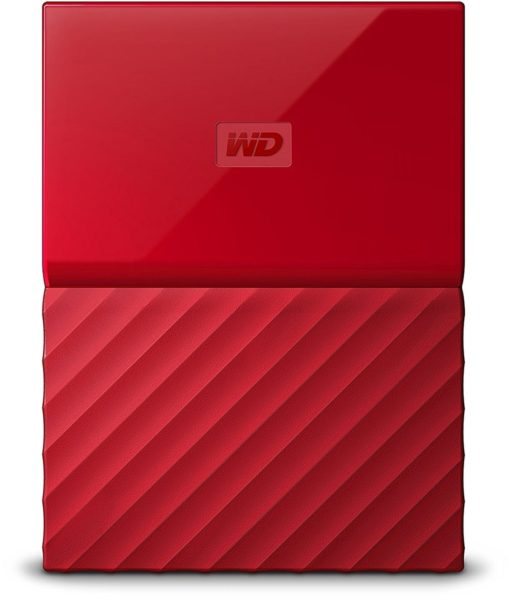 Western Digital WDBYNN0010BRD My Passport Hard Drive 1TB Red