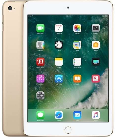 Apple iPad Mini 4 Tablet - iOS WiFi 128GB 2GB 7.9inch Gold with FaceTime