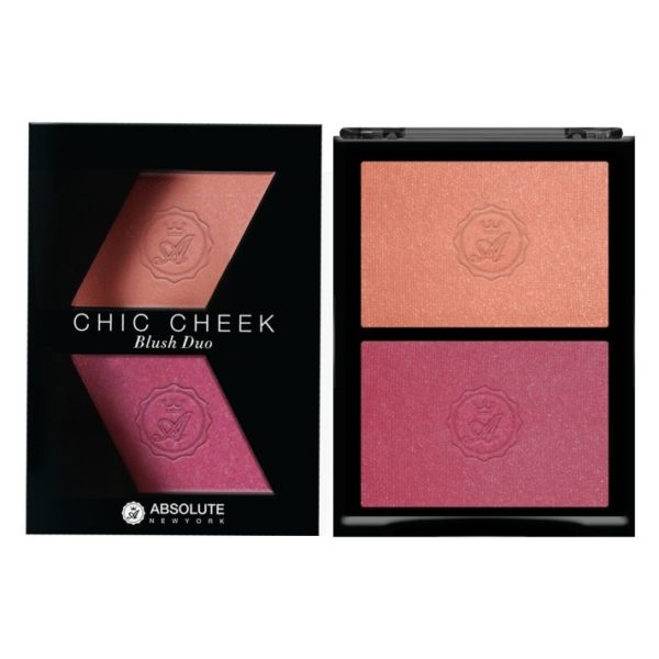 Absolute New York Chic Cheek Blush Duo Pinched/Flushed ABS0MFBD03