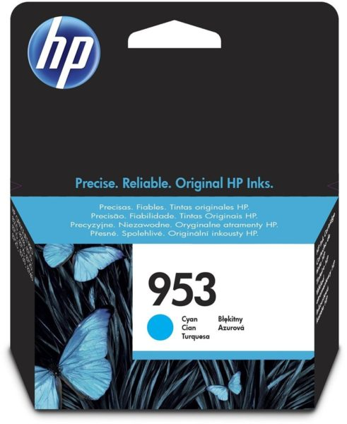 HP 953 F6U12AE Cyan Original Ink Cartridge