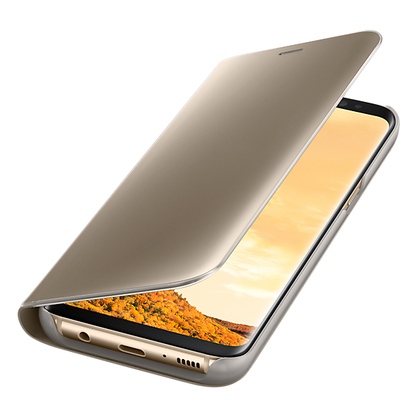 Samsung Clear Standing View Cover Gold For Galaxy S8