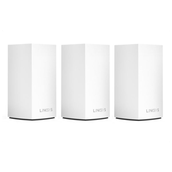 Linksys Velop WHW0103 AC1300 Whole Home Intelligent Mesh WiFi System, Dual-Band, 3-pack