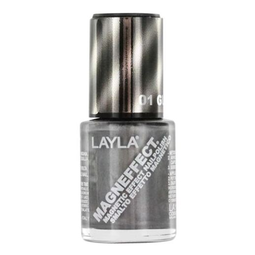 Layla Magneffect Nail Polish Gun Metal 001