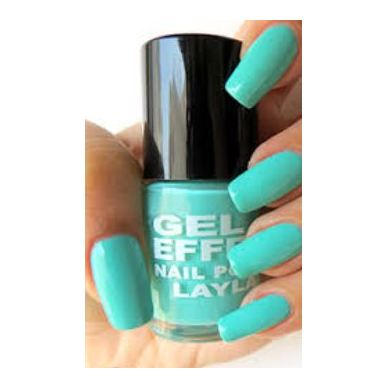Layla Gel Effect Nail Polish Fiji Green 016