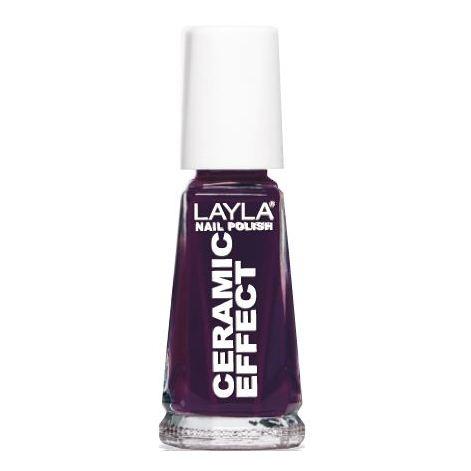 Layla Ceramic Effect Nail Polish Violet Storm 005