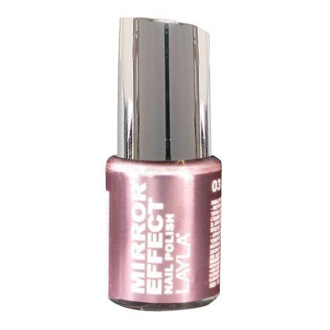 Layla Mirror effect Nail Polish Pink Iron 003