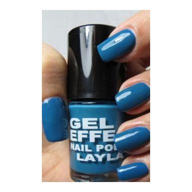 Layla Gel Effect Nail Polish Dazzling Turq 027