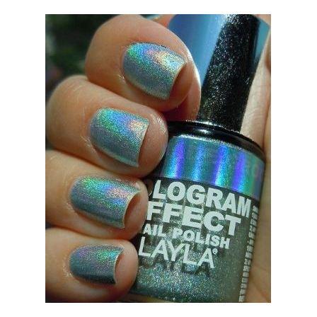 Layla Hologram effect Nail Polish Jade Groove 005