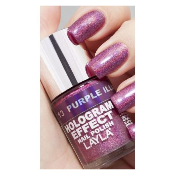 Layla Hologram effect Nail Polish Purple Illusion 013