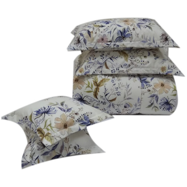 AIWA AI-583-5/144TC Double Comforter Set 220x240cm Polycotton Print Blue