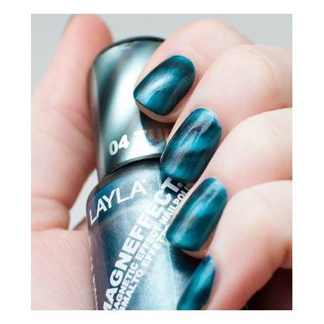 Layla Magneffect Nail Polish Turquoise Wave 004