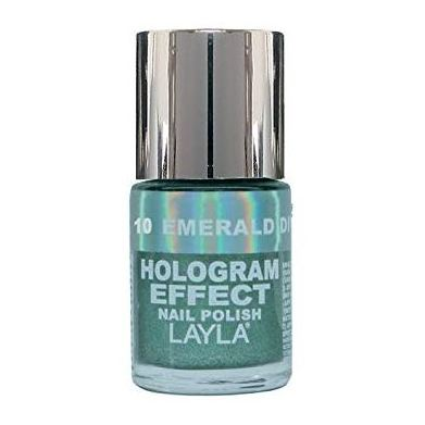 Layla Hologram effect Nail Polish Emerald Divine 010