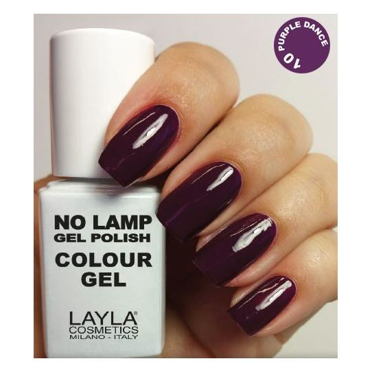 Layla No Lamp Gel Nail Polish Purple Dance 010