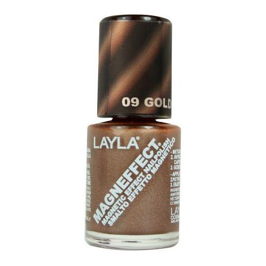 Layla Magneffect Nail Polish Golden Bronze 009