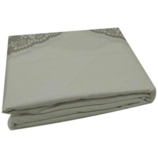 AIWA AI-805-8/180TC King Flat Sheet Set Poly Cotton Print Light Beige