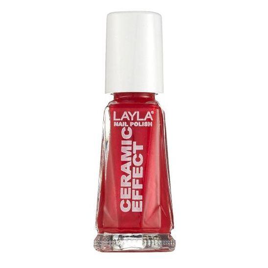 Layla Ceramic Effect Nail Polish Canadian Red 094