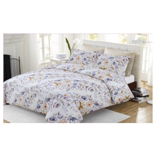 AIWA AI-583-9/144TC King Comforter Set 240x260cm Polycotton Print Blue