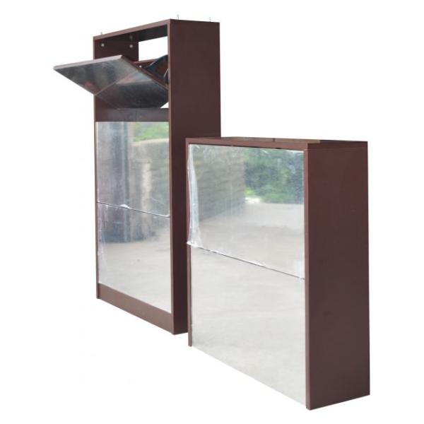 CLASS Shoe Cabinet with Full Length Mirror Walnut ASTV4112
