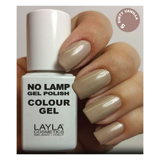 Layla No Lamp Gel Nail Polish Dirty Vanilla 005