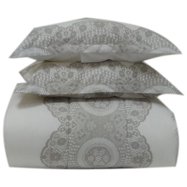 AIWA AI-805-9/180TC Single Comforter Set 160x240cm Poly Cotton Print Light Beige