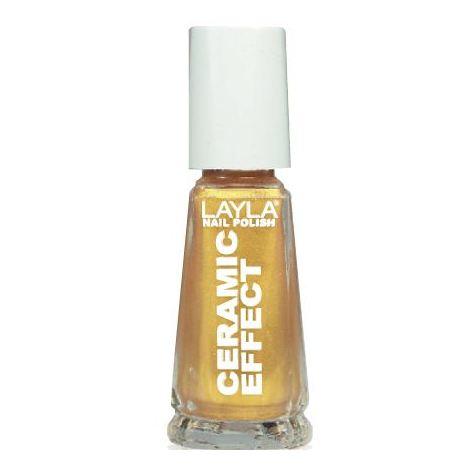 Layla Ceramic Effect Nail Polish Gold Finger 075