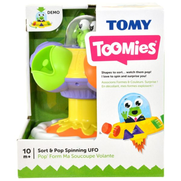 Tomy Toomies Sort & Pop Spinning UFO E72611