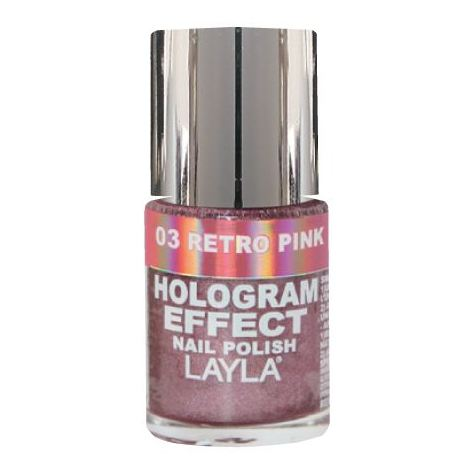 Layla Hologram effect Nail Polish Retro Pink 003