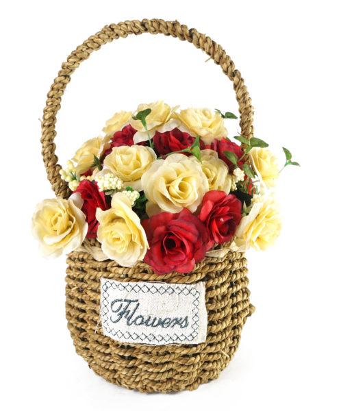 buy rosso sdross24 flower in cane hangle brown basket price rh uae sharafdg com