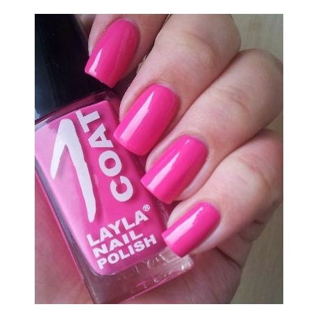 Layla 1 Coat Nail Polish Break Pink 009