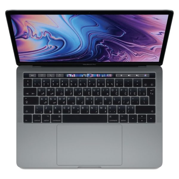 MacBook Pro 13-inch with Touch Bar and Touch ID (2018) - Core i5 2.3GHz 8GB 256GB Shared Space Grey English/Arabic Keyboard