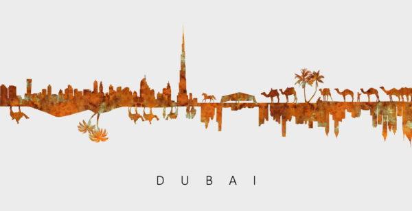Desert Frames Art(193) Graphic Dubai Silhouette Photo Frame 10x15cm