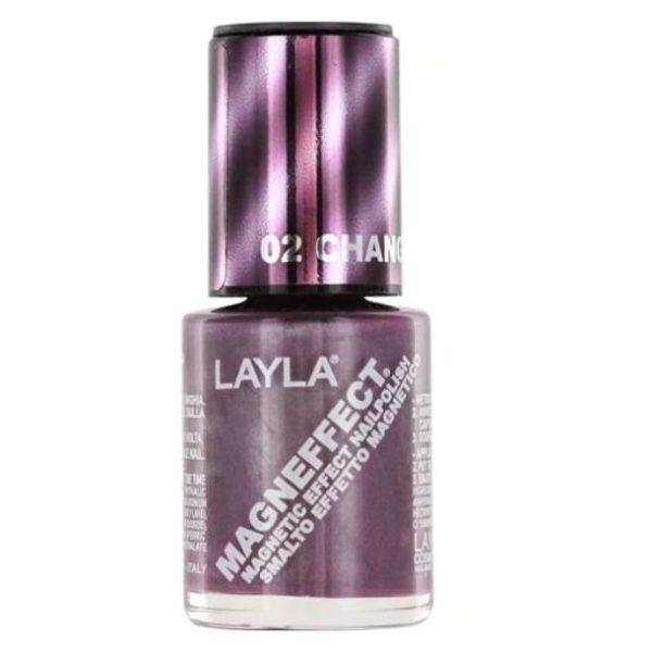 Layla Magneffect Nail Polish Changing Lilac 002