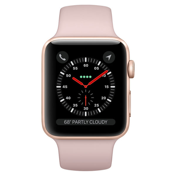 Apple Watch Series 3 GPS + Cellular 38mm Gold Aluminium Case with Pink Sand Sport Band