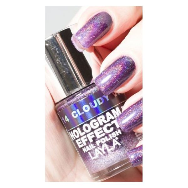 Layla Hologram effect Nail Polish Claudy Violet 014