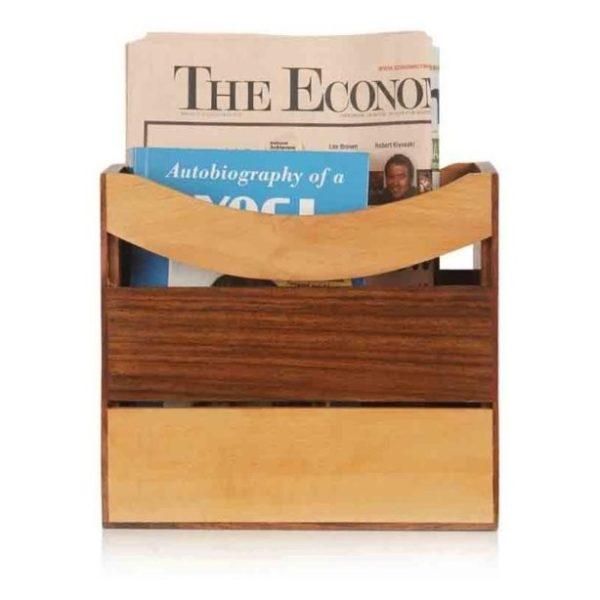 Moorni EL007017 Wooden Newspaper Stand