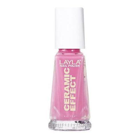 Layla Ceramic Effect Nail Polish Sensual Pink 021
