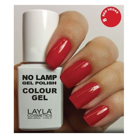 Layla No Lamp Gel Nail Polish Red Vegas 007