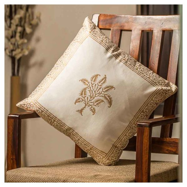 Moorni EL-026-065 Wooden Block Printed Cotton Cushion Cover - Set of 4
