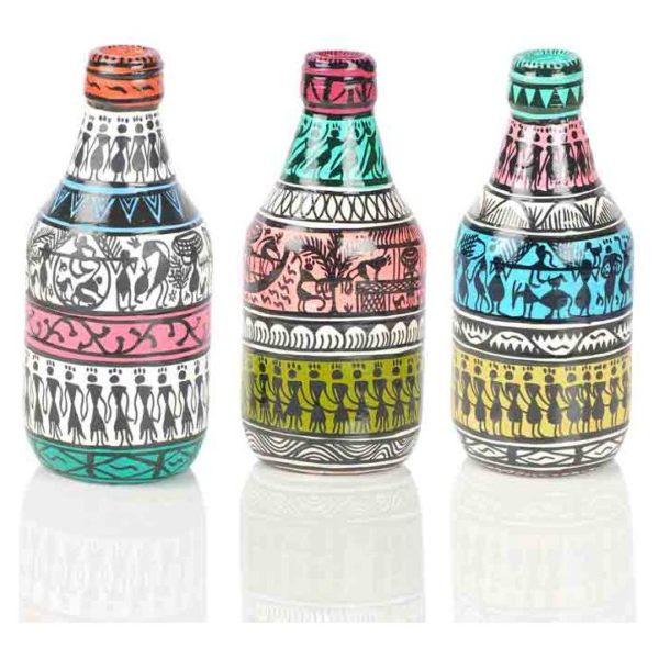 Moorni Set of 3 Decorative Vases in Bottle Shaped - EL-006-040