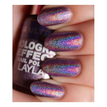 Layla Hologram effect Nail Polish Ultra Violet 004