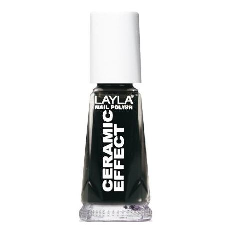 Layla Ceramic Effect Nail Polish Pure Black 031