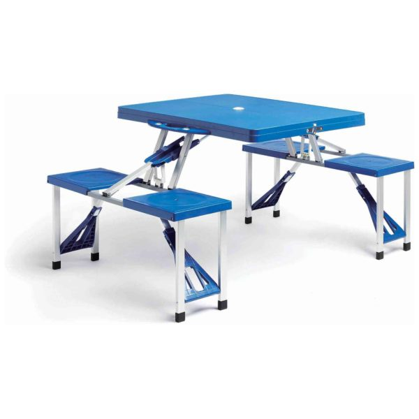 CLASS Portable Folding Outdoor Camp Suitcase Picnic Table w/ 4 Seats